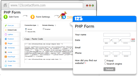 Free PHP Form Generator