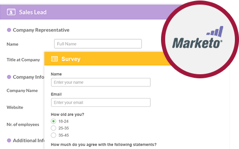 Advanced forms and surveys tool for Marketo