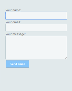 Simple HTML contact form code for your website & blog