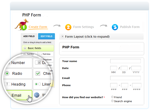 Free PHP Form Builder by 123ContactForm