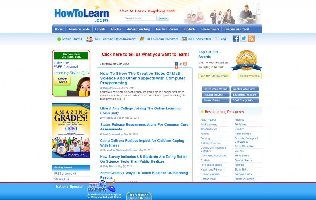 Howtolearn homepage
