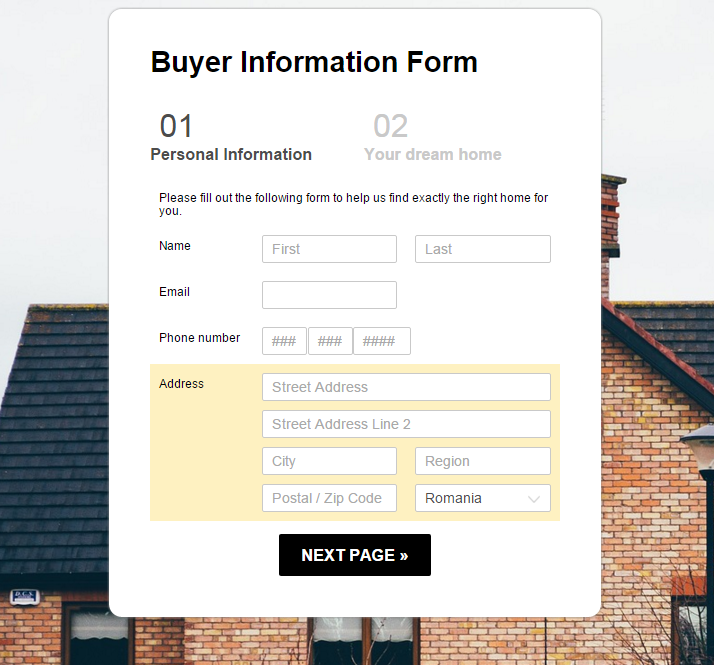 Buyer Information Form