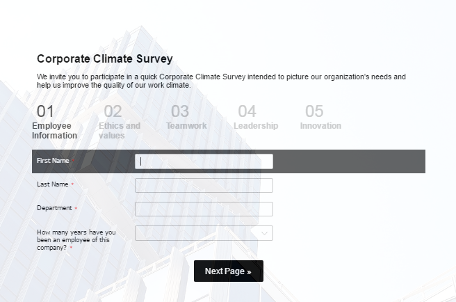 Corporate Climate Survey