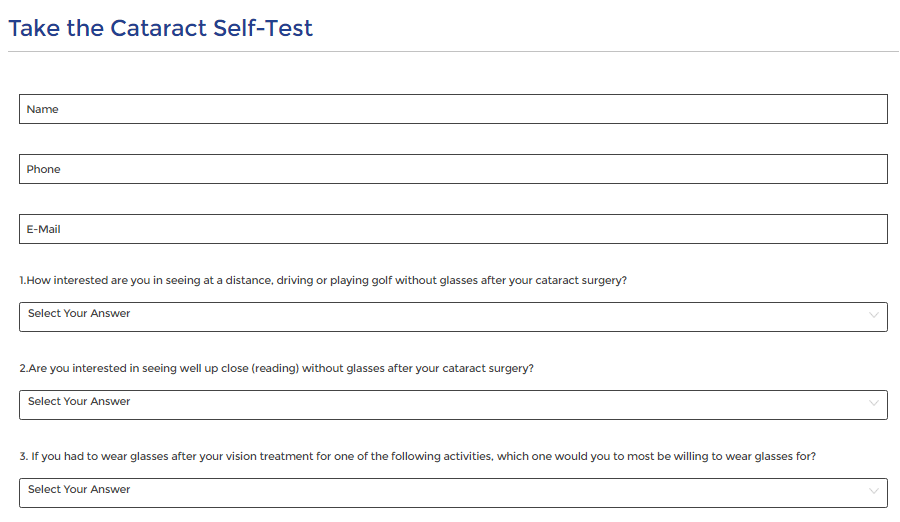 Take the test form template